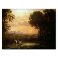 Claude Lorrain 'Landscape at Dusk' Art