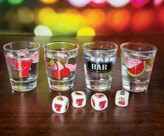 Fruit machine shot glasses! (Click for price)