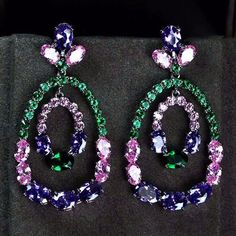 Zircon Earring JHZ-450 USD41.90, Click photo for shopping guide and discount