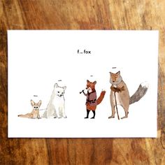 F is for Fox Card by katieviggers on Etsy