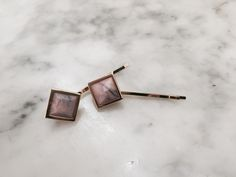 Pink marble on your bobby pin