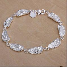 Silver Flip Flop Bracelet