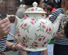 Emma Bridgewater Factory Open Day (Stockists) 2011 NGS Cosmos Gallon Teapot for a Raffle Prize