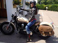 Nice boots lady biker!