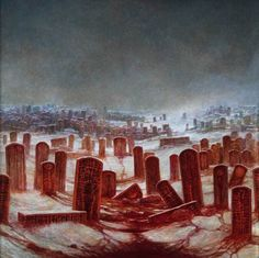 Years 1986 - 1988 end Beksinski's fantasy period. He painted more abstract compositions later. Fantasy Kunst, Fantasy Art, Cthulhu, Art Macabre, Dark Images, Spiritus, Gothic Horror, Environment Concept Art, Art Database