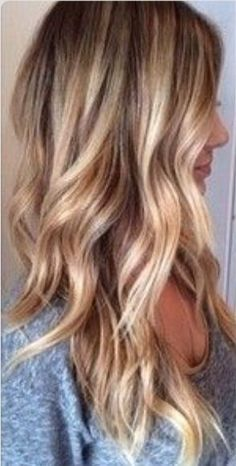 Blonde highlights dirty blonde hair with highlights, blonde balayage long. Hair Color And Cut, Hair Colour, Beach Hair Color, Hair Affair, Blonde Color, Hair Highlights, Natural Blonde Hair With Highlights, Warm Blonde Highlights, Ombre Hair