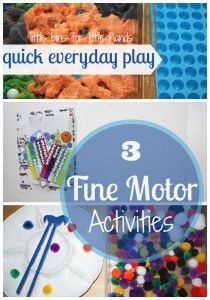 10 Quick And Simple Fine Motor Alphabet Activities | Little Bins for Little Hands