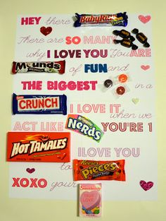 Candy Bar Letter.