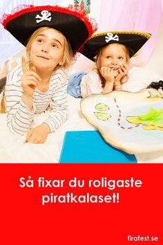 Tips till barnkalas med pirattema! Mat, utklädning, dekorationer, dukning och lekar! #barnkalas #kalas #piratkalas #pirater #tema #mat