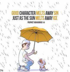 """Good character melts away sin just as the sun melts away ice."" -- Prophet Muhammad (PBUH)"