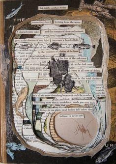 Altered book wall hanging by OfficiallyWithdrawn on Etsy, $50.00