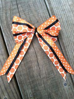 Orange & Black Cheer Bow