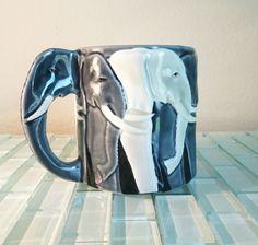 Vintage Elephant Cup Coffee Mug Otagiri Tom Taylor Japan in Relief