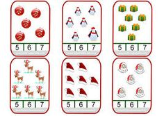 Christmas-themed counting clip cards for your French classroom! Preschool Christmas, Preschool Math, Christmas Activities, Christmas Themes, Christmas Fun, Activities For Kids, Montessori, Christmas Worksheets, Early Math