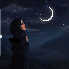 I miss you ramzan😣 Sarra Art, Hijab Drawing, Girly M, Islamic Cartoon, Anime Muslim, Hijab Cartoon, Girly Drawings, Moon Photography, Girly Pictures