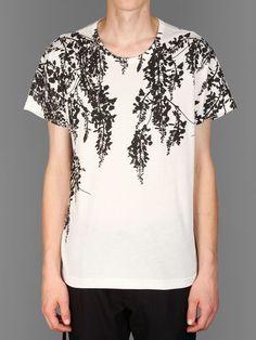 Ann Demeulemeester crewneck t-shirt with floral print #anndemeulemeester