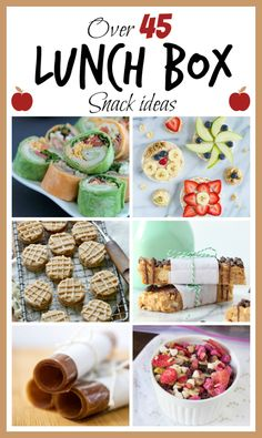 Over 45 Lunch Box Snack Ideas compiled by @spoonfulflavor  on ohsweetbasil.com