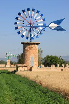 Old Majorcan Windmills. My Collection :) #Mallorca. Spain