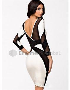 Vestido Bandage Preto e Branco