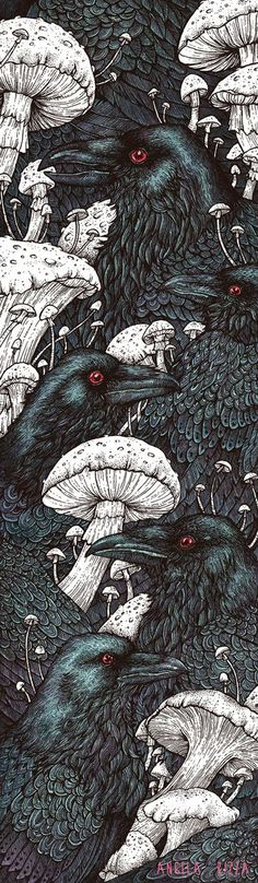 "Crows Ravens: #Ravens ~ ""Decay,"" by Angela Rizza, at deviantART. #Arts Design #Ravens"