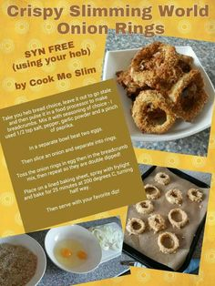 Syn free slimming world onion rings astuce recette minceur girl world world recipes world snacks Slimming World Dinners, Slimming World Recipes Syn Free, Slimming Eats, Slimming World Lunch Ideas, Slimming World Fakeaway, Slimming World Breakfast, Sliming World, Sw Meals, Fitness Motivation