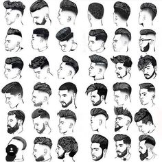Types Of All Haircuts Complete Guide - The Vogue Trends Mens Hairstyles Pompadour, Mens Medium Length Hairstyles, Cool Hairstyles For Men, Plaits Hairstyles, Boy Hairstyles, Cool Haircuts, Haircuts For Men, Barber Haircuts, Men's Haircuts