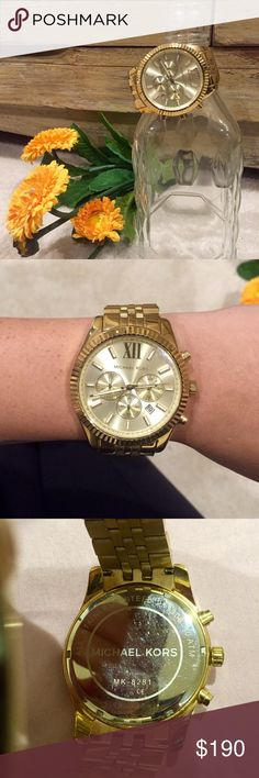Michale Kors Gold Watch GORGEOUS Michael Kors gold watch! GREAT condition! Style # is photographed! Extra links included Michael Kors Accessories Watches