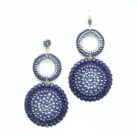 These dazzling double circle earrings are encrusted with brilliant purple crystals for fabulous Ballroom Bling! Made with SWAROVSKI ELEMENTS.