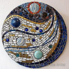 """Pandora""  by Tricia Huffman. Abstract mosaic mandala"