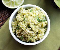 cilantro lime avocado rice