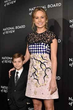 Jacob Tremblay and Brie Larson attend the National Board of Review Gala at Cipriani 42nd Street on January 5, 2016 in New York City 247292