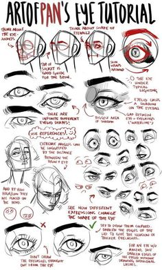 Anatomy Drawing Tutorial A place to learn how to draw, drawingden: Eye Tutorial by artofpan - Drawing Techniques, Drawing Tips, Drawing Tutorials, Art Tutorials, Painting Tutorials, Drawing Ideas, Anatomy Reference, Art Reference Poses, Hand Reference
