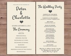 Wedding Program  Order Of Service  by DarlingPaperCompany on Etsy, £12.00: