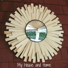 DIY Sunburst Mirror - My House and Home