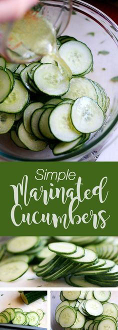 Simple Marinated Cucumbers + Tips on Using Vinegar   cucumber recipes   paleo recipes   side dish r