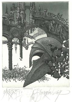 """Artifact I"" by Jordanov - Bookplate - Fine Art Print 9/15 2004."