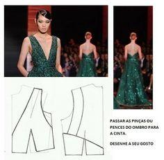 Plantillas de moda medir: Transformación DE VESTIDOS