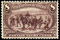 US Stamps  Troops Guarding Wagon Train