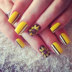 "Flowers are the most typical design for summer. Summer is for sun so nails should be colorful and bright. Sunflower is the classic summer nail art design to make your summer more alive because of its yellow color which is the sign of positivity. Get ready for spring party with sunflower nail art that will … Continue reading ""88 Amazing Sunflower Nail Art Design For This Summer 2017"""