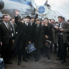 February 7, 1964: The Beatles arrive in New York City on Pan Am flight 101, their first trip to America!