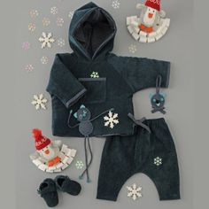 Coudre un blouson à capuche et un sarouel pour bébé / A hooded jacket and trousers for a baby