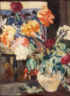 'Pèonies Dans Une Vase,1935' by Louis Valtat.