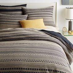 for guest bedroom?  Organic Washed Woven Dot Duvet Cover + Shams