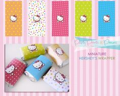 DIY Printable Hello Kitty Miniature Hershey's Wrapper now available at http://partyprintsandpieces.blogspot.com