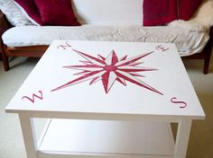 Such a cool idea for nautical decor! I might have to try this on my old coffee table!