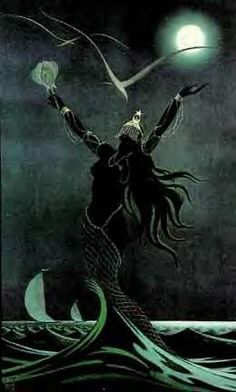 Yemayá is the Mother of the Seven Seas, the Santeria Orisha of fertility and motherhood. She offers protection to women. She is likened to the patron saints Lady of Regla, and Mary, Star of the Sea.