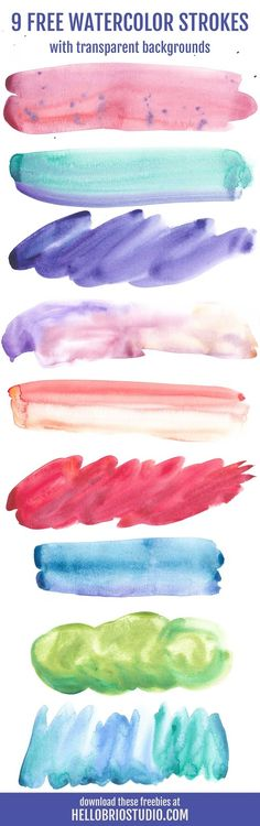 Free watercolor strokes + How to Make a Watercolor Blog Header from Start to Finish