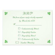 Funny St Patrick's Day Party RSVP Invitation Card