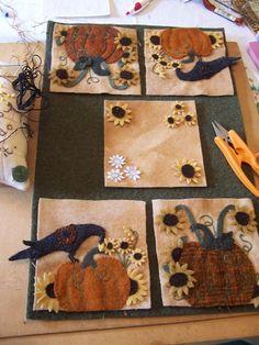 Fall Penny Rugs in Prigress