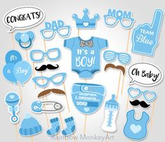 Baby Shower Photo Booth Props Printable Photo Booth Props